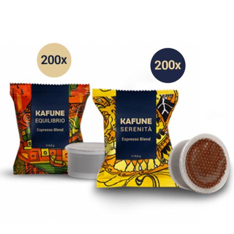 Pachet Kafune Capsule  Compatibile EP - 200 capsule Serenita + 200 capsule Equilibrio