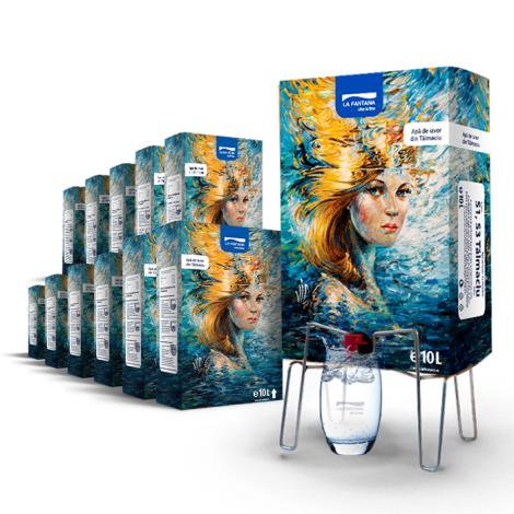 Pachet Bag-in-box 12x10L apa de izvor + suport gratuit la prima comanda*