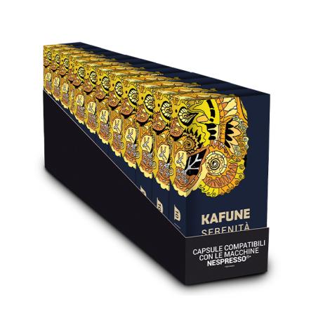 Pachet 120 capsule Kafune compatibile Nespresso - SERENITA